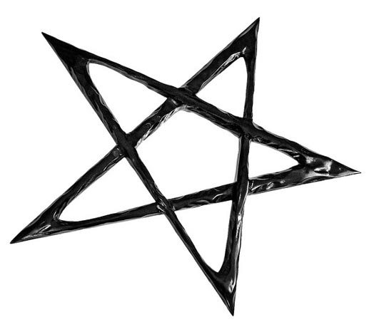 The five-pointed pentagram symbol.
