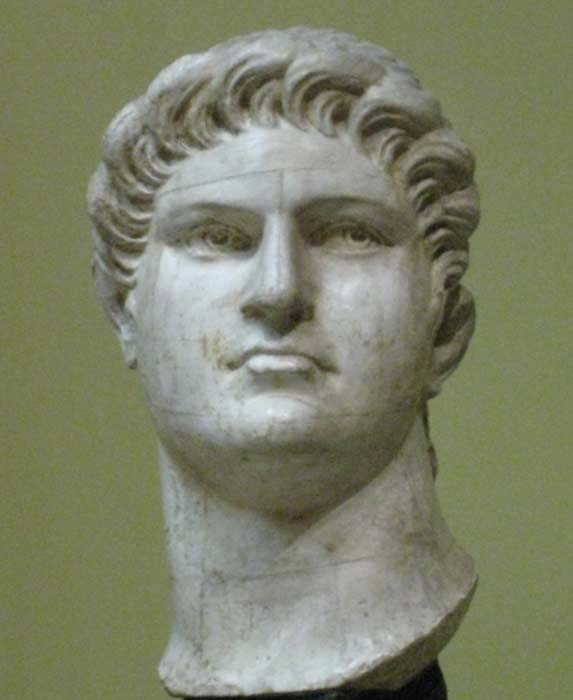 A plaster bust of Nero, Pushkin Museum, Moscow.