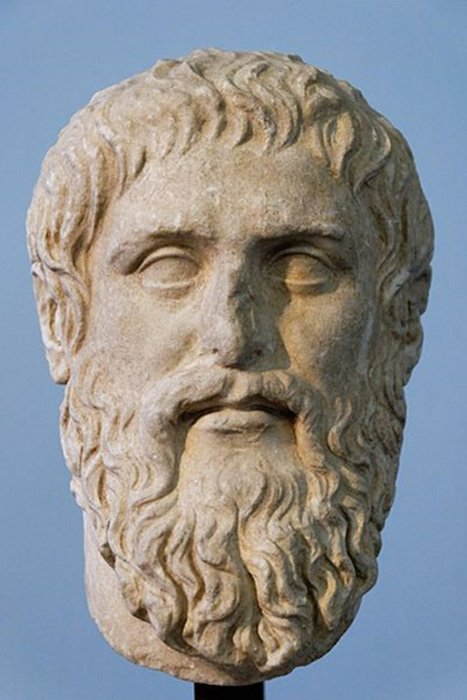 Bust of Plato.