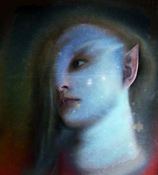 In lore, elves had pointed ears, and excellent hearing.