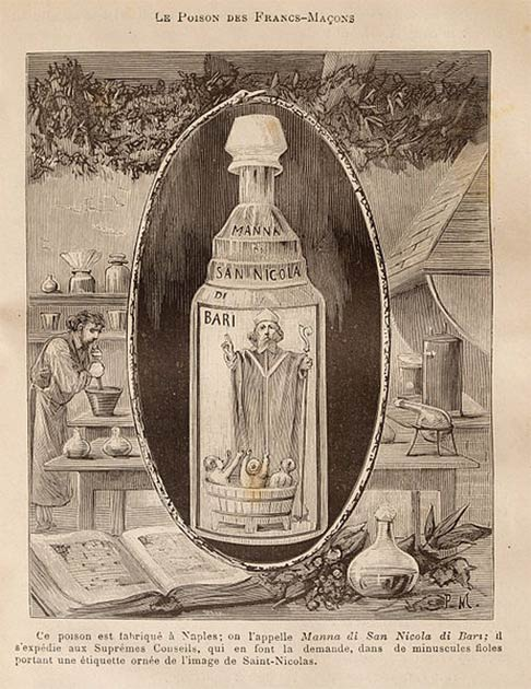 In 17th century Italy, the poison, known as Aqua Tofana or Manna di San Nicola, was kept by unhappy wives alongside perfume and lotions, almost as a way of cultivating the fantasy of someday being free from their husbands. (Public domain)