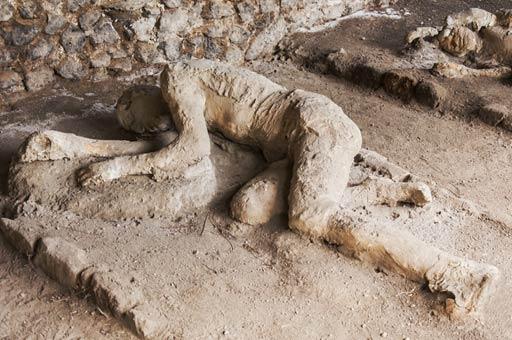 Bodies of ancient Roman citizens  - Pompeii
