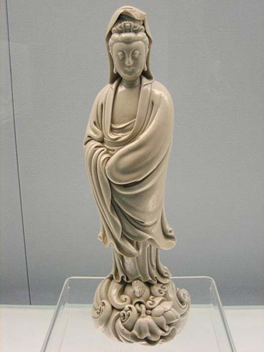 A porcelain statue of Kuan Yin from the Ming Dynasty.