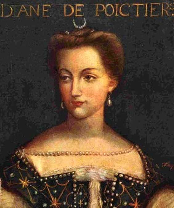 A portrait of Diane de Poitiers, Unknown artist 16th century.
