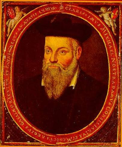A portrait of Nostradamus, painted by his son, Cesar.