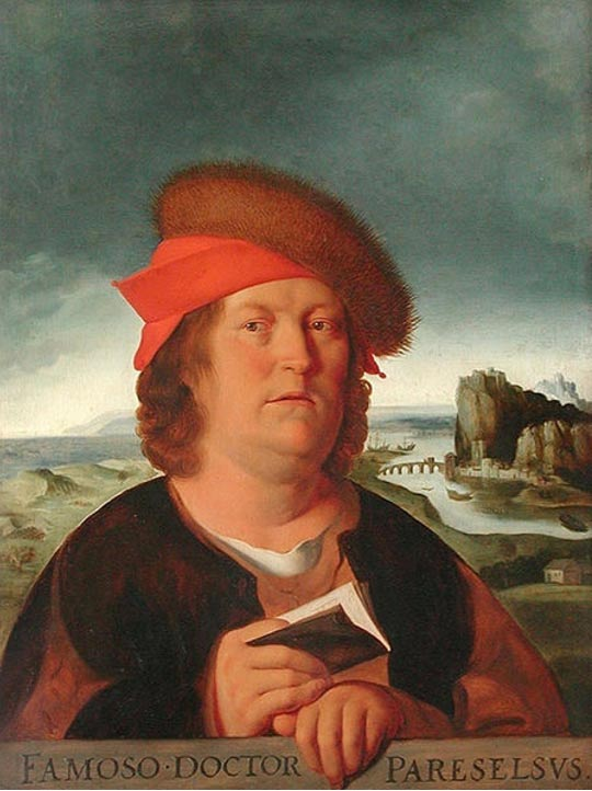A copy of Quentin Matsys' portrait of Paracelsus.