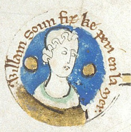 Illustrated portrait of William Adelin, son of King Henry I of England.