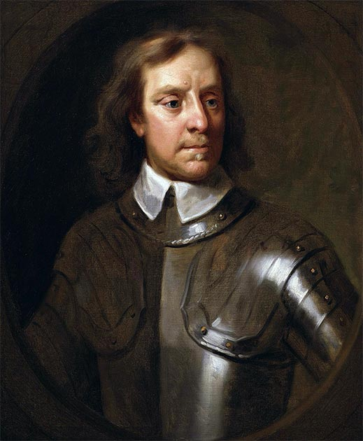 A portrait of Oliver Cromwell. It has been suggested that the person who ordered the Cerne Abbas Giant to be cut, did so in order to make a mockery of his political adversary Cromwell. (Samuel Cooper / Public domain)