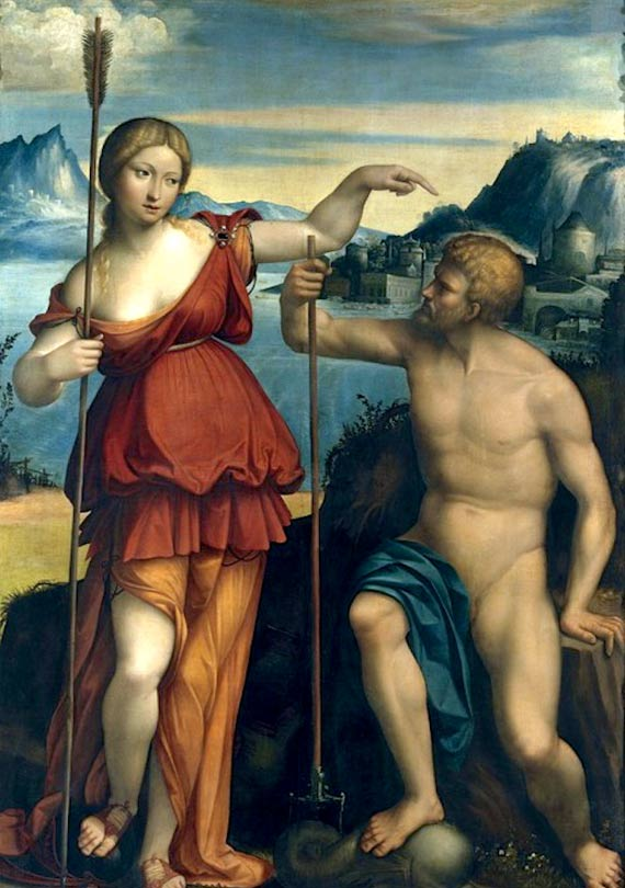 Poseidon and Athena battle for control of Athens - Benvenuto Tisi da Garofalo (1512).