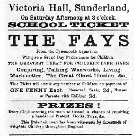 Poster advertising the 1883 variety show at Victoria Hall. (Elysium 73 / Public Domain)