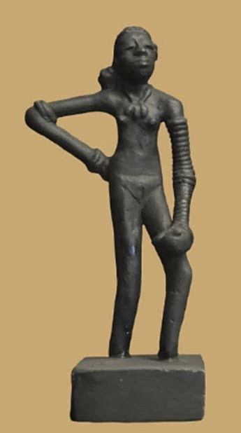 "Replica of the prehistoric ""Dancing Girl of Mohenjo Daro"" circa 2,500 BC"