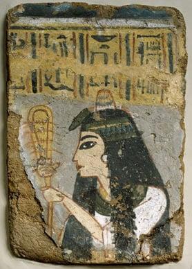 A priestess with the sekhem sistrum
