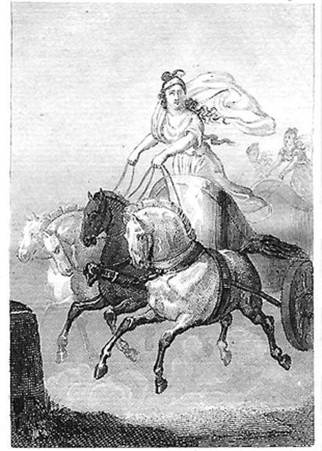 Impresión francesa de Cinisca. (chica griega americana)