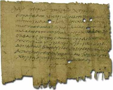 A private letter on papyrus from Oxyrhynchus.