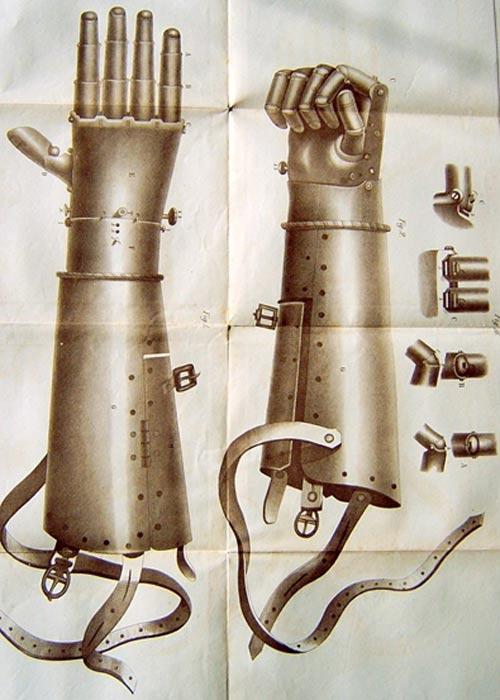 The second iron prosthetic hand worn by Götz von Berlichingen.