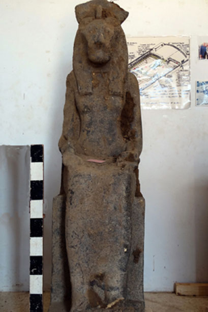 One of the better-preserved statues of Sekhmet, the cat goddess meant to protect Amenhotep III.