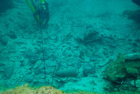 Punic Shipwreck Cargo Remains
