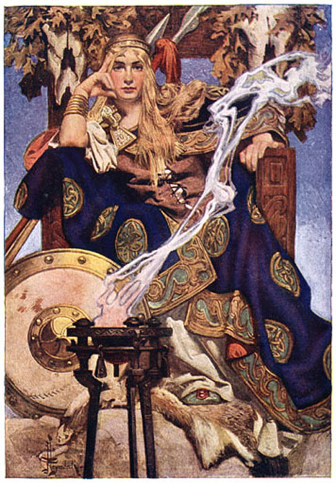 Queen Maev by J. C. Leyendecker.