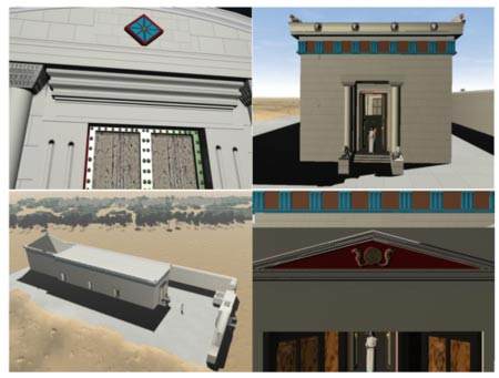3D reconstructions of what the tomb
