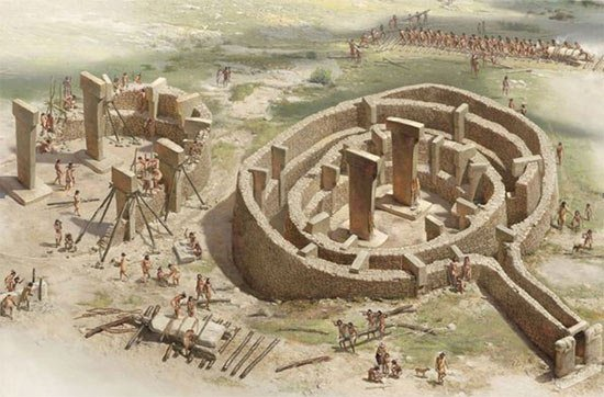 An artist's reconstruction of Gobekli Tepe
