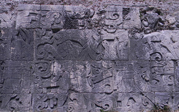 A relief from the Great Ball Court of Chichen Itza
