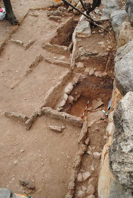 The remains of some of the 300 people were found in a grave complex