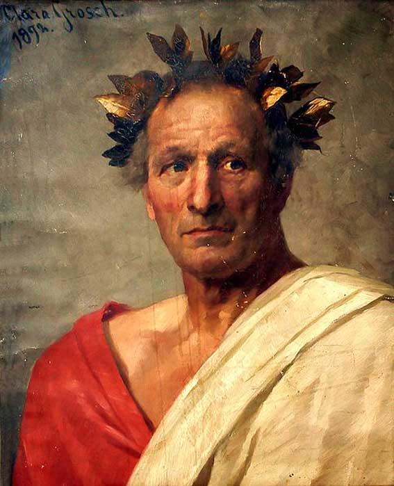 Artistic representation of Julius Caesar.