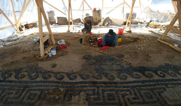 Researchers working at the newly discovered tombs - Greece
