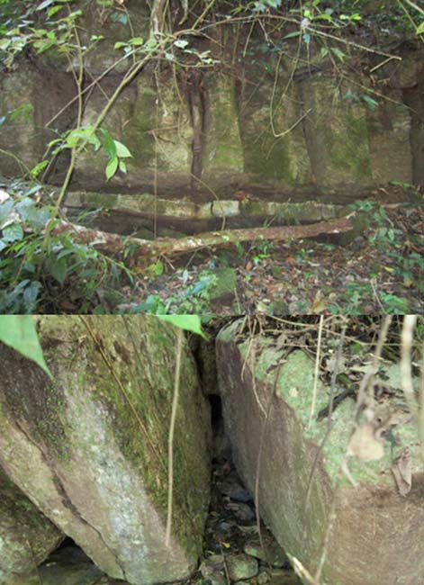 Photos of the strange rock structure.