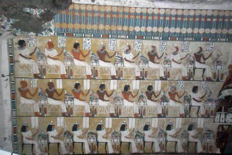 Rock hewn tombs in egypt - elephantine island