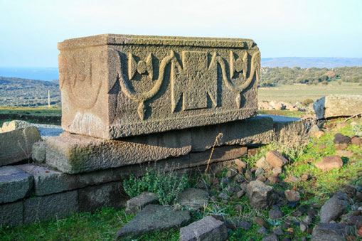 Roman sarcophagus in the western necropolis of Assos - Turkey