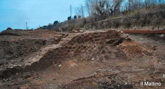 Roman wall discovered following a series of landslips