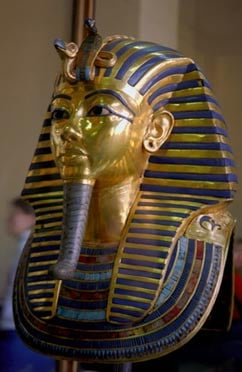The Royal Cobra (Uraeus) on the mask of Tutankhamun