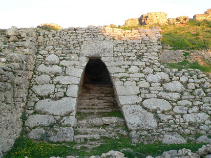 Entrance to the royal palace at Ugarit