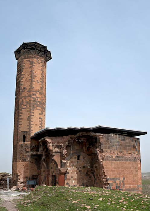 The ruins of Manucehr Mosque, an 11th century mosque built among the ruins of Ani.