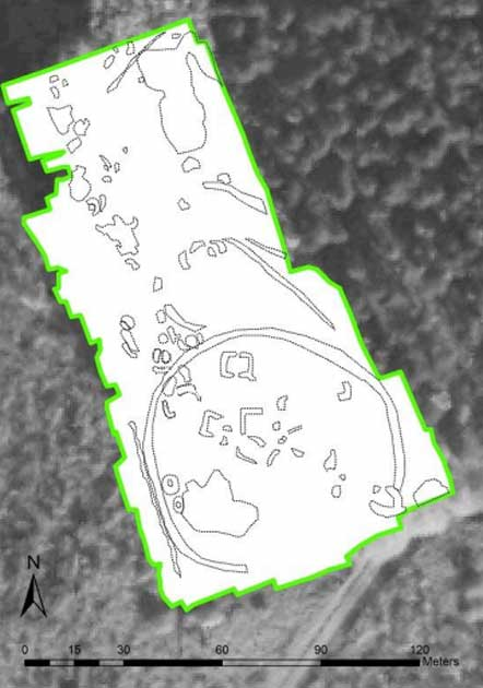 A scan of the Viking meeting point in Sherwood Forest.