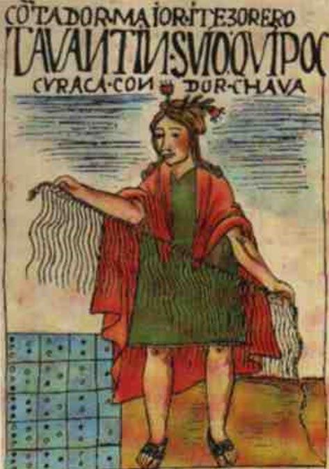 A scribe and khipu.