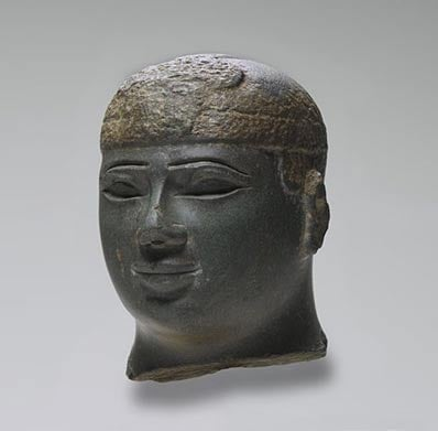 Sculpture depicting the head of a Kushite Ruler