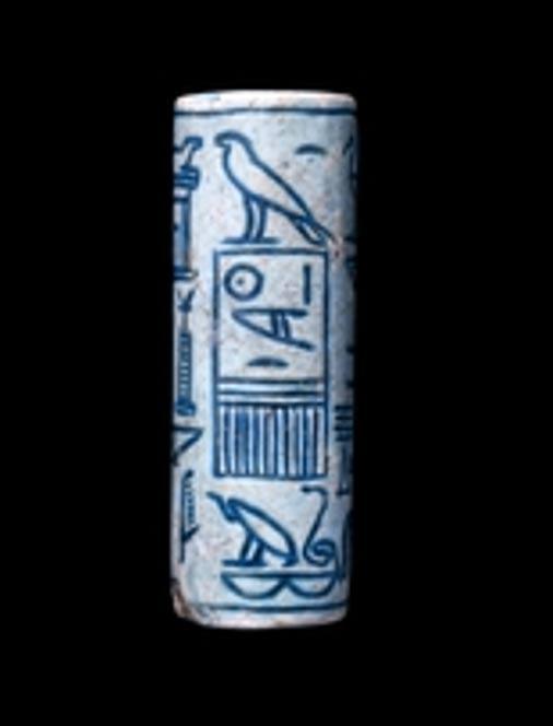 Glazed steatite cylinder seal of Sobeknefru