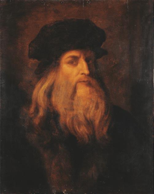 Possible self-portrait of Leonardo da Vinci. (Public Domain)