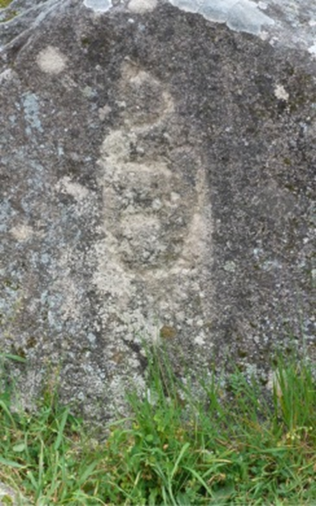 A serpent carved on a rock at the Iron Age site of Castro de Trona: whether it is itself Iron Age or older we do not know.
