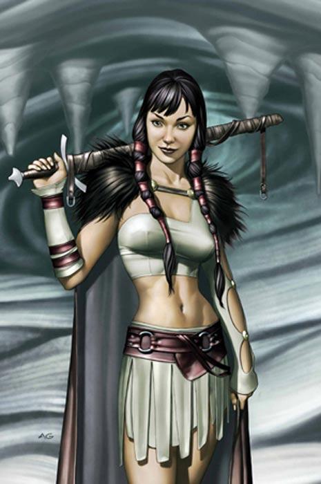 Artwork for the cover of Thor: Son of Asgard 3 (Jun, 2004). Art by Adi Granov.