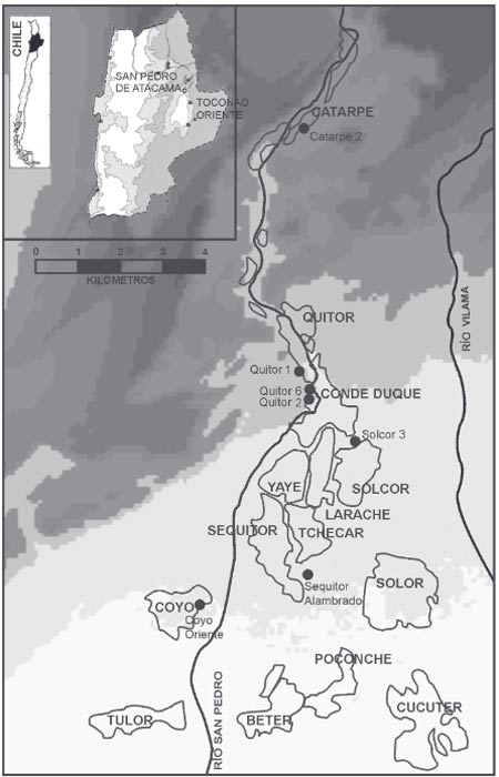 Location of the sites analyzed in the recent study.