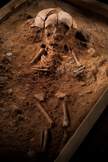 The six-month-old infant that was buried 8,400 years ago.