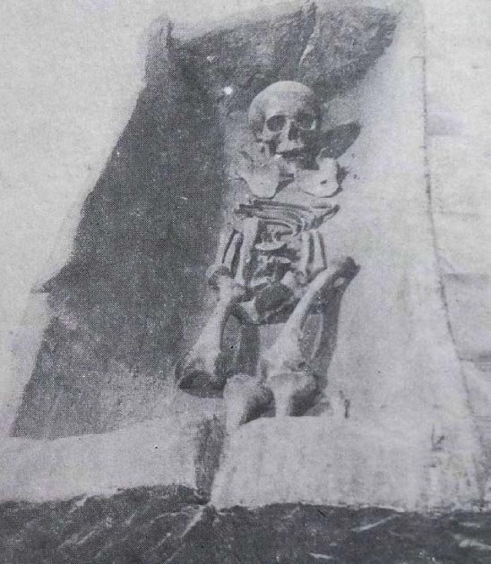 The skeleton of the Polish 'princess.' (archeologiabagicza.pl)