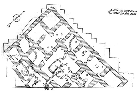 A sketch showing the layout of the palace in Abrakan