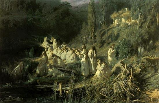 Slavic Folklore vilas and rusalkas