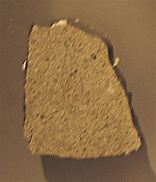 A slice of the meteorite that struck Ann Hodges. (Basilicofresco / CC BY-SA 2.0)