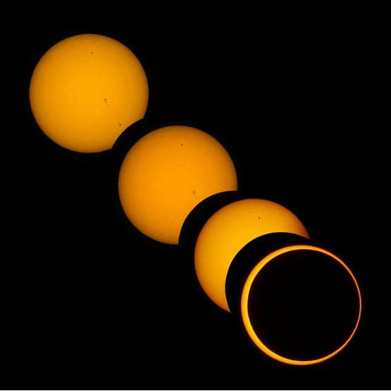 A solar eclipse, May 20, 2012 (Photo by Brocken Inaglory/Wikimedia Commons)