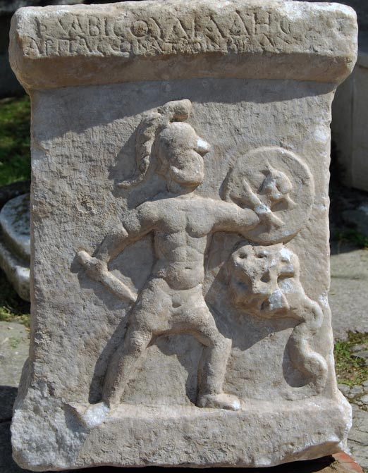 A son of Hercules does battle with a many-headed Hydra in a scene from an ancient altar found in Turkey. The battle recalls Hercules' own fight with the Hydra.